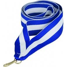 Stuha modro-bílo-modrá 22 mm