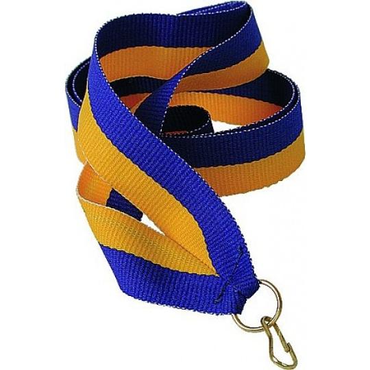 Stuha žlto-modrá 11 mm
