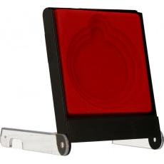 Púzdro na medailu 5 - 7 cm červené