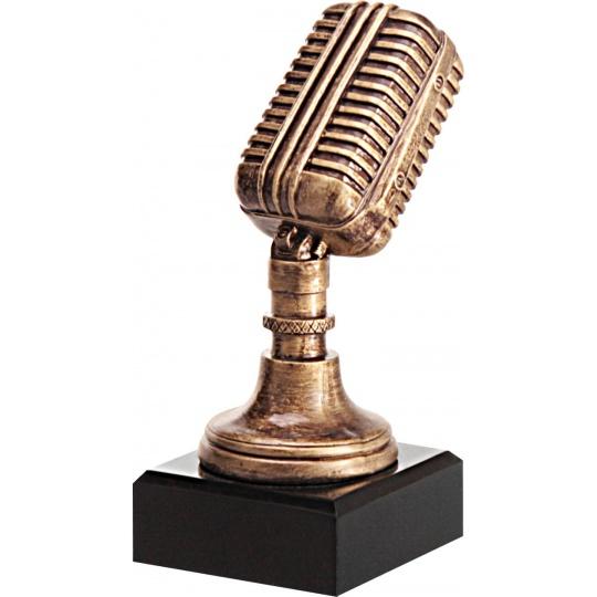 Odlievaná figurka mikrofón