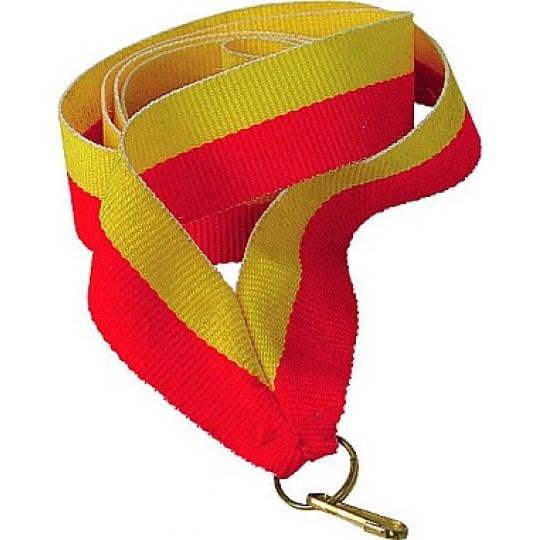 Stuha žlto-červená 22 mm