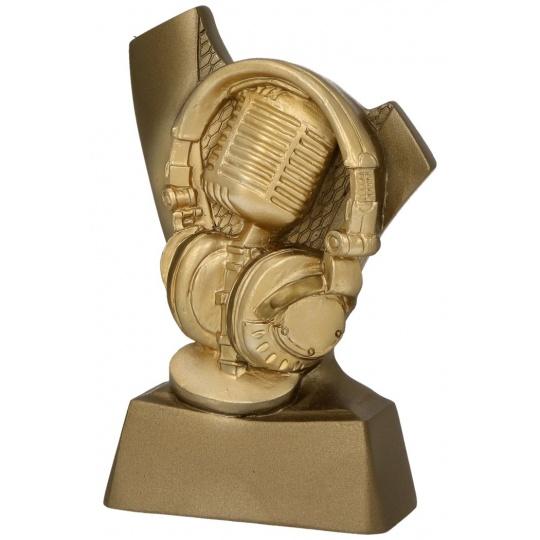 Odlievaná figurka mikrofon