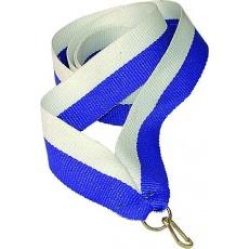 Stuha bielo-modrá 22 mm